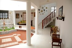 My Dream Canvas: An Enchanting Home in Coimbatore Part 2 Indian Interior Design, Indian Home Design, Kerala House Design, Indian Home Decor, Village House Design, Bungalow House Design, Home Room Design, Home Design Plans, Chettinad House