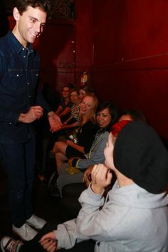 Mika with fans Webster Hall 10/16/12 - I was here but in this pic i'm hiding
