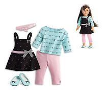 """American Girl LE GRACES BAKING OUTFIT for 18"""" Dolls Apron Cook Chef NEW"""