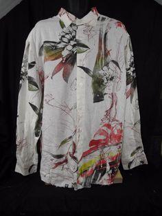 85a8a7b20 Artful Dodger NWOT 3Xl Button Front Casual Floral Long Sleeve Linen  #ArtfulDodger #ButtonFront
