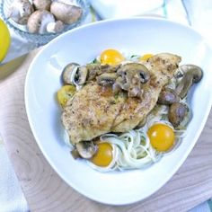 Chicken marsala with a silky mushroom sauce and hints of lemon on delicate capellini Capellini, Chicken Marsala, Turkey Dishes, Chicken Casserole, Cookbook Recipes, Us Foods, Yummy Food, Yummy Yummy, Main Dishes
