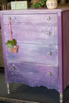 Modernly Shabby Chic Furniture: Barney the Purple Dresser and ...