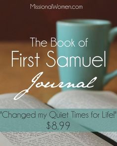 I never knew how ineffective my quiet times with the Lord were until reading this Bible Study Journal through 1st Samuel. If someone told me $9 would change my relationship with God...I never would have believed them!