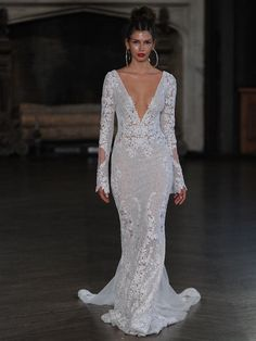 Berta Bridal Fall 2017 Wedding Dresses Full Of Illusion Lace And Appli - Yalan Wedding Couture