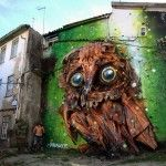 Trash and Found Objects Transformed into Birds by 'Bordalo II'