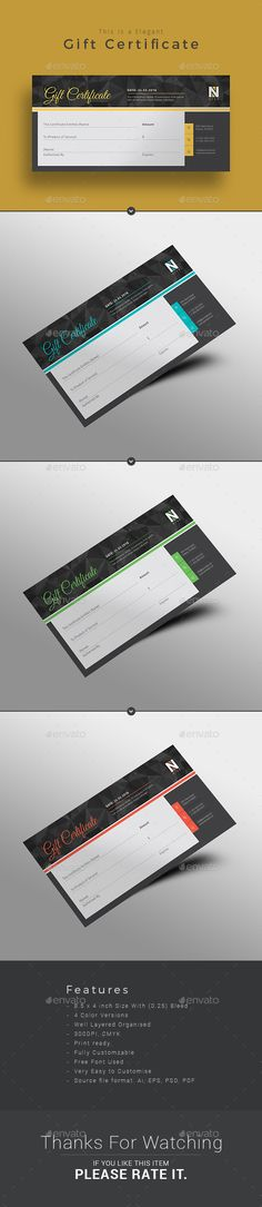 Fitness Gift Voucher Template, Business cards and Gift voucher - fitness gift certificate template