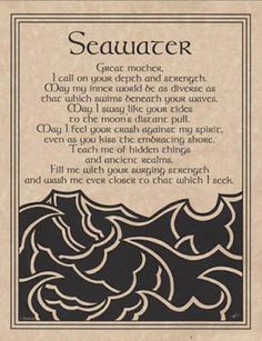 Seawater Prayer Parchment for Book of Shadows, Altar!