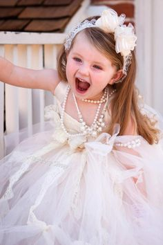 Bride Flower Tutu Dress Baby Perfect For Pictures