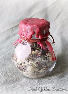 Love Drawing Witch Bottle, Sealed, for Attraction and Passion