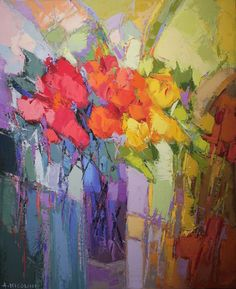 galerie-you-ma . Art Floral, Floral Artwork, Futurism Art, Flower Artists, Southwest Art, Abstract Landscape Painting, Painting Gallery, Abstract Flowers, Beautiful Paintings