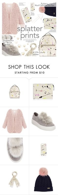 """""""Splatter"""" by cynthia6 ❤ liked on Polyvore featuring Henri Bendel, Steve Madden and Burberry"""