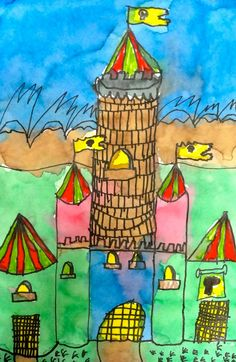 Castles in Watercolor and Marker   Deep Space Sparkle