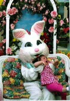 Honestly I originality would also have been petrified of that bunny when I was young