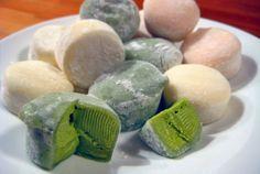 Receta de Mochi aisukurimu, mochi de helado http://www.recetasjaponesas.com/2010/02/mochi-aisukurimu-helado-de-mochi.html #receta #recetasjaponesas #japon #mochi #helado