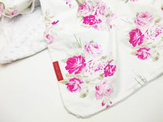 IN STOCK Minky Baby Blanket in Slipper Roses 30X36 - Designer Boutique Minky Baby Blanket - Vintage pink roses on white, shabby chic gift by LilRedsThreads on Etsy https://www.etsy.com/listing/222095968/in-stock-minky-baby-blanket-in-slipper