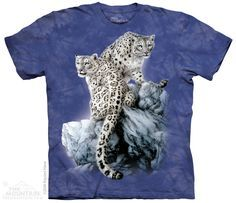 unisex t-shirt high on top snow leopards