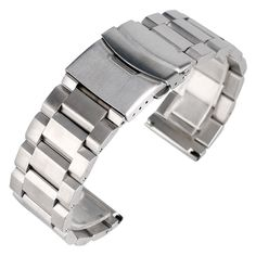 11.83$  Watch here - http://ali8ig.shopchina.info/go.php?t=32783464750 - 18mm 20mm 22mm 24mm Luxury Watchband Metal Steel Bracelet Folding Clasp with Safety Strap Replacement Adjustable + 2 Spring Bars 11.83$ #buymethat