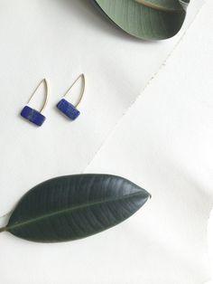 Ettore earrings - lapis lazuli pillow