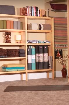 Shelves with towels and other things good idea, different decor