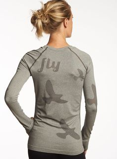 I love my long sleeve Flyte! Seamless collection for light as a feather long sleeves. Flyte LS in 3 colors.