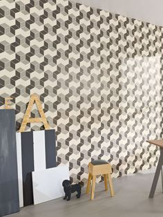 Wall tiles / floor tiles EMMA by Whole Lotta Love Tiles Handmade tiles can be colour coordianated and customized re. shape, texture, pattern, etc. by ceramic design studios Wall Installation, Tile Inspiration, Handmade Tiles, Tiles, Interior Walls, Wall, Flooring, Tile Stained, Geometric Tiles