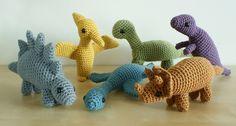 Amigurumi Dinosaurs - now I need to learn how to crochet...