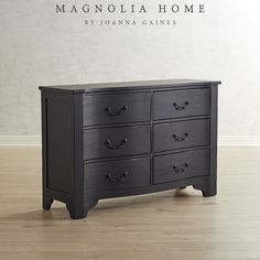 Part of the Magnolia Home Collection by Joanna Gaines, the La Grange Dresser features an elegant silhouette and antiqued finish. It's a stunning accent piece for any room.