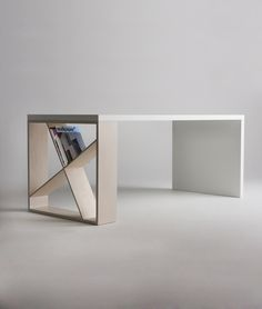 Simple desk with bookcase …