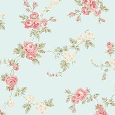 Light Blue Shabby Cottage Chic Wallpaper - Faded Cabbage Rose Bouquet, Vintage Country Garden, Distressed Pink Floral -By The Yard Chic Wallpaper, Flower Wallpaper, Iphone Wallpaper, Cabbage Rose Bouquet, Discount Wallpaper, Visual Texture, Traditional Wallpaper, Shabby Chic Cottage, Shabby Bedroom