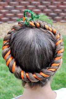 some really cute ideas for Halloween hair