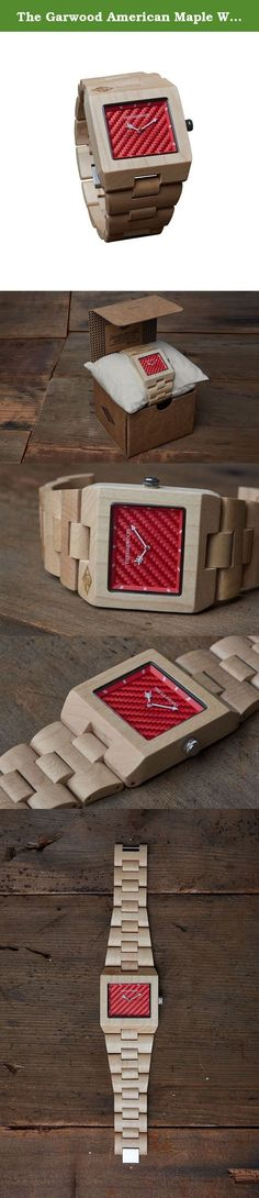 "The Garwood American Maple Wood Watch - ""Great Dane"" - Square - Analog - 12-Month Warranty. We are excited to expand The Garwood collection to now include bold colored faces. We wanted to create something that is very noticeable and the Great Dane is sure to stand out with it's beautiful light natural American maple wood and bright fiery red face."