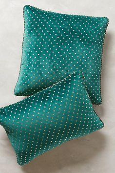 Dotted Velvet Pillow #anthrofave #anthropologie