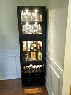 Ikea liquor cabinet build projects to try шкаф бар, домашний Curio Cabinet Ikea, Liquor Cabinet Furniture, Wine Bar Cabinet, Home Bar Furniture, Wine Cabinets, Furniture Ideas, Corner Bar Cabinet, Corner Liquor Cabinet, Curio Cabinets