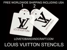 Louisvuittoncake LVcake Louisvuittoncupcake Louisvuittoncookies LVstencil Louisvuittonstencil Fabulous Louis Vuitton set of 2 stencils Sizes on the Cake Stencil, Stencils, Louis Vuitton Cake, Handbag Cakes, Purse Cakes, Cake Topper Tutorial, Cake Toppers, Cupcake Mold, Logo Cookies