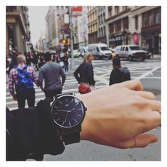 @lisamaryanderson taking the time to explore NYC   Featuring The Williamsburg from our New York Collection  #wanderlustwatches
