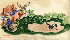 An original illustration from Shy Little Kitten by Gustaf Tenggren, 1946.