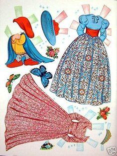 Vecchie Bambola di Carta, Old Dolls of Papel, Poupées de Papier anciennes