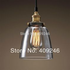32.30$  Watch now - http://ainzt.worlditems.win/all/product.php?id=32660826856 - Industrial Edison Light Mini Clear Glass  Pendant Hanging Lamp Fixture Antique Lighting Cafe Bar