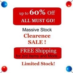up to 60% OFF Clearance Sale  ALL Must Go FREE shipping by jjad97