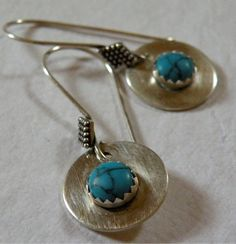 Sydney      Turquoise Sterling Silver by ScorpionMoonDesigns, $34.00