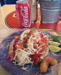 Tacos de pescado estilo Ensenada Beer Battered Fish Tacos, Lunch Time, Meat, Chicken, Ethnic Recipes, Baby, Food, Mexican, Recipes