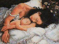 Maternità - 60x80 - Acrilico su tela