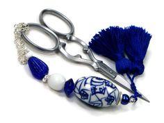 Beaded  Scissor Fob DIY Crafts Cross Stitch by TJBdesigns on Etsy, $18.00