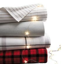 WholeHome Luxe Luxurious Yarn- Dyed Triple Brushed Portuguese Cotton Flannel Queen Sheet Set from Sears Catalogue  $99.97