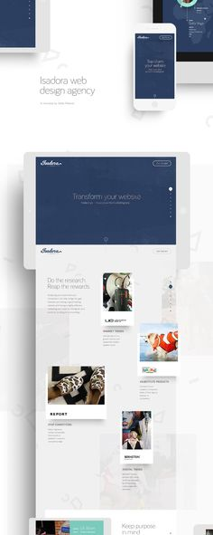 Art Direction and Graphic Design for Isadora Design micro site.