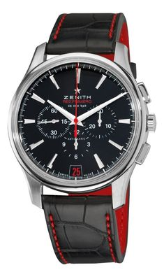 Men watches : Zenith Men's 03.2115.400/21.C703 El Primero Captain Black Chronograph Dial Watch