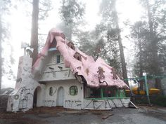 It's now abandoned. I loved this place as a kid! Santa's Village by pingpongdeath, via Flickr