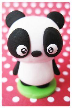 fimo cutey pie kawaii panda