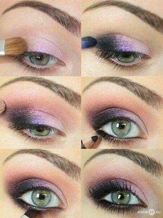 green eyes make-up lilac eyeshadow . green eyes make-up lilac eye shadow Purple Eye Makeup, Makeup For Green Eyes, Eye Makeup Tips, Smokey Eye Makeup, Makeup Ideas, Eyeshadow Tips, Purple Eyeshadow, Makeup Tricks, Makeup Tools