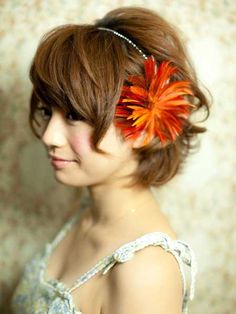 Flowers for wedding short hairstyles
